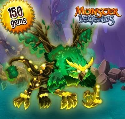 imagen de la oferta del monstruo griffex de monster legends