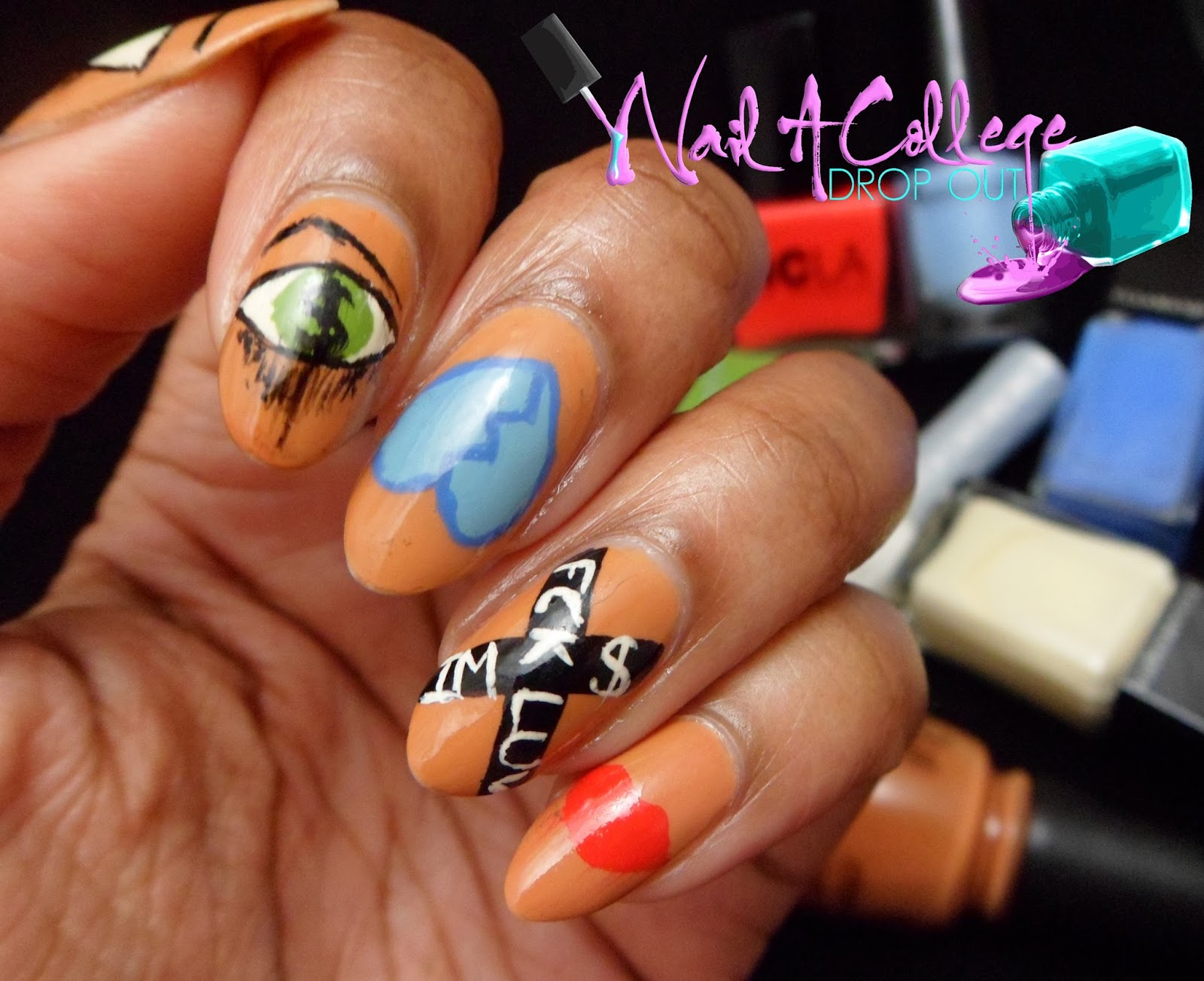 Nail a college drop out when nails imitate art sue tsai probably seen tons of nail art inspired by sue tsai and loved it so i thought id try to finally execute a mani based on a piece of her work as well prinsesfo Images