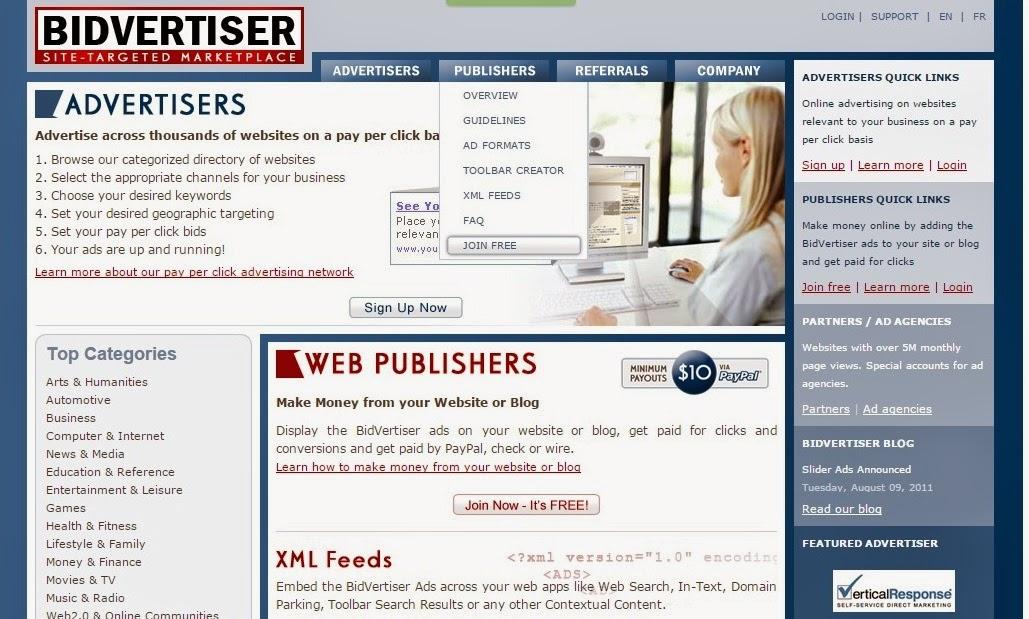 Cara Daftar Dan Memasang PPC Bidvertiser