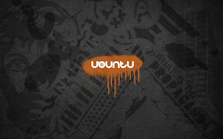 Ubuntu Linux Graffiti Black Orange Mint HD Wallpaper OS