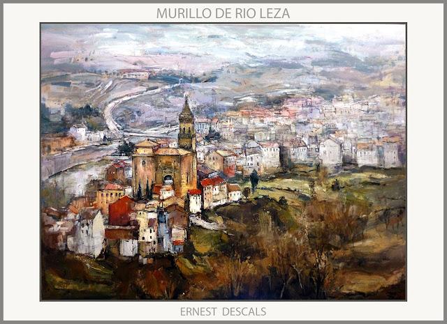 MURILLO DE RIO LEZA-PINTURA-PAISAJES-LA RIOJA-PINTURAS-ARTISTA-PINTOR-ERNEST DESCALS-