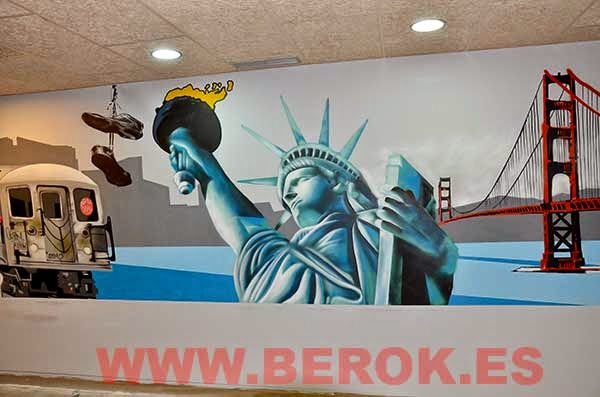 Berok graffiti mural profesional en barcelona decoraci n for Como dibujar un mural en la pared
