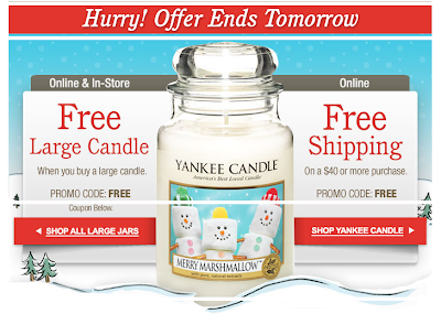 Buy one get one half price on selected gift sets & large candles at YankeeCandle