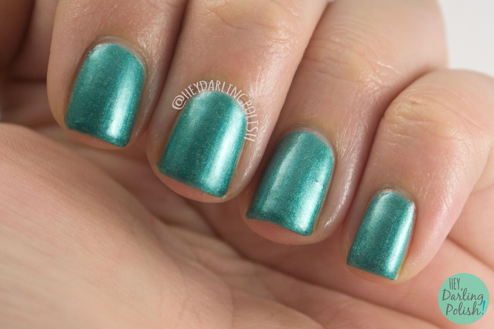 teal, bff, nails, nail polish, indie, indie polish, kitty polish, hey darling polish, swatch, shimmer