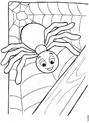 desenhos-colorir-dia-bruxas-Halloween-aranha