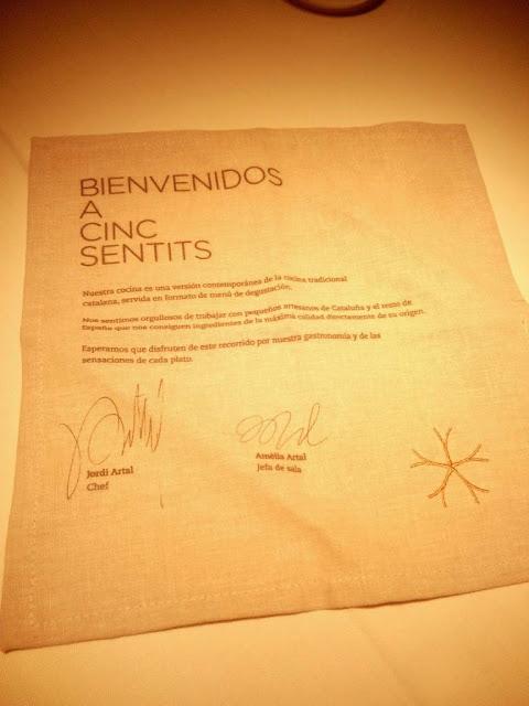 Restaurante Cinc Sentits Barcelona