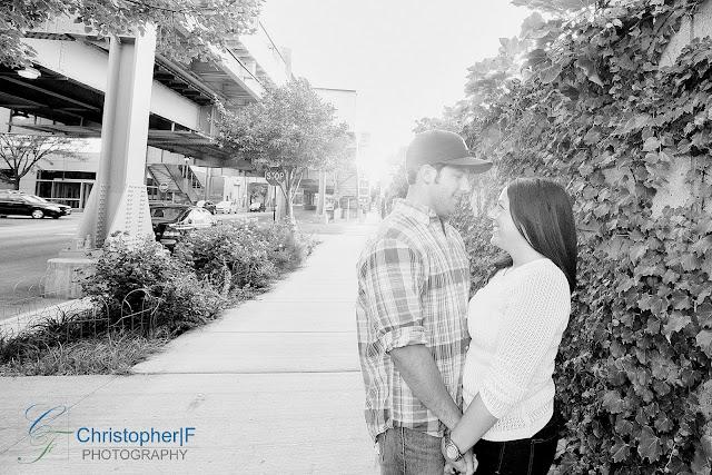 Sunset Engagement Photo Chicago