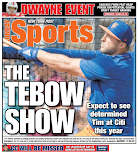 Tebow wins back page for Mets