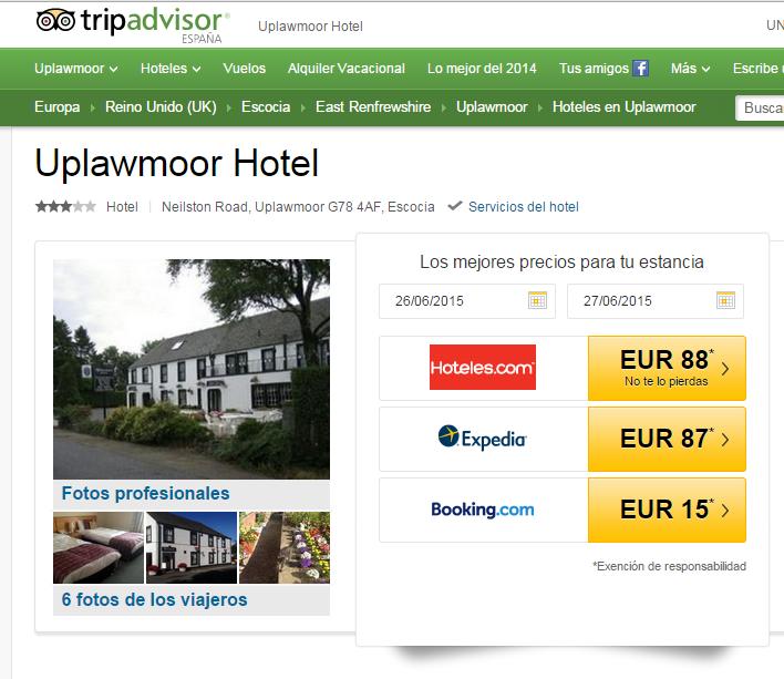 Hotel Upwalmoor en Escocia