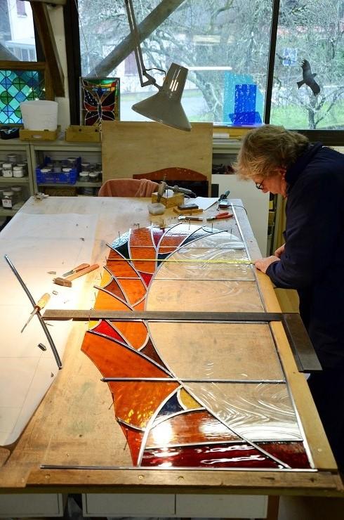 atelier verrier de clermont vitrail verre fusionn. Black Bedroom Furniture Sets. Home Design Ideas