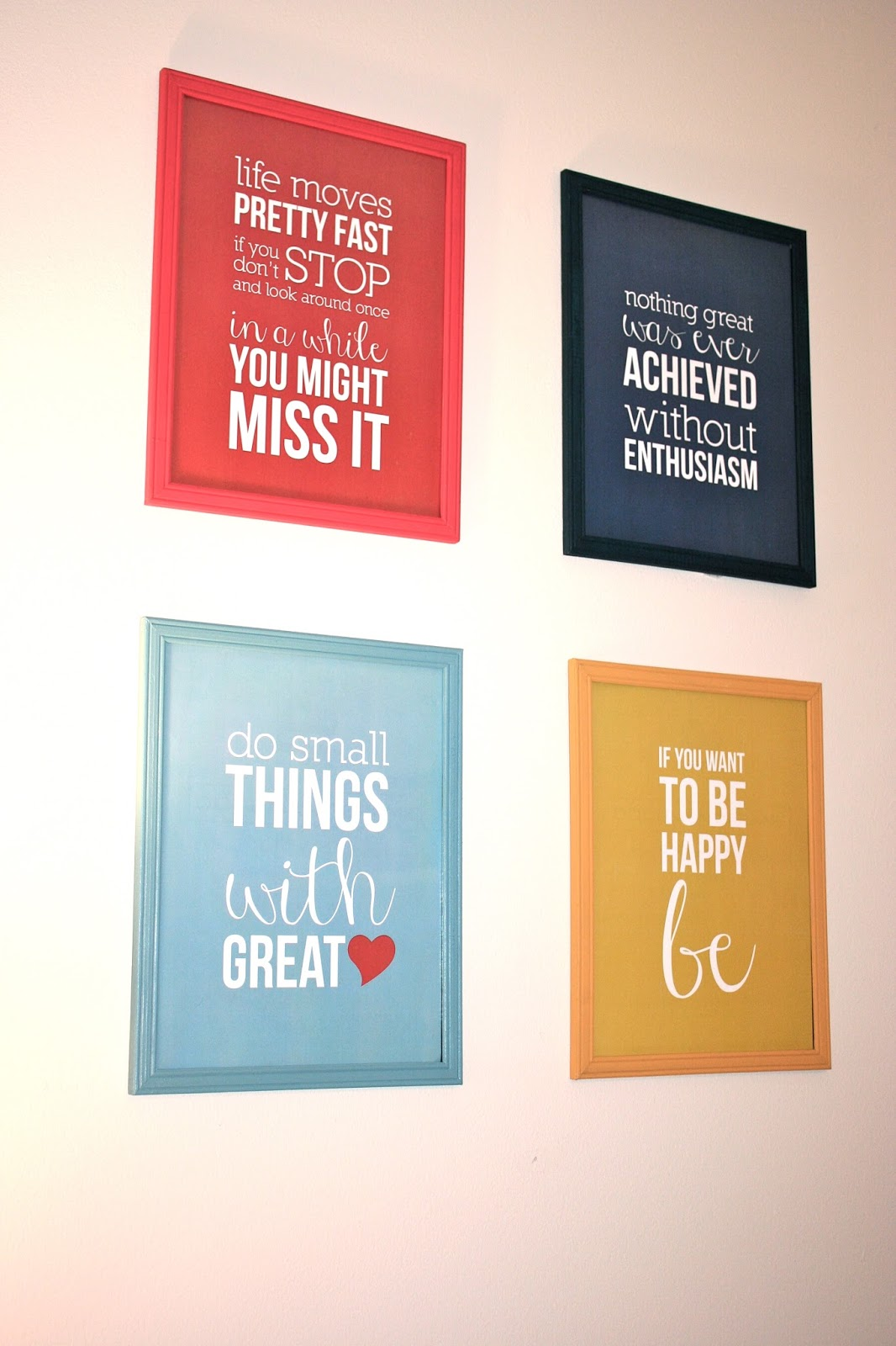 Small ♥ Things: DIY Colorful Frames