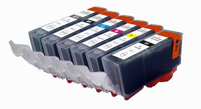 seis cartuchos de tinta