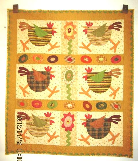 Pieced Brain Chicken Quilts Custom Chicken Quilt Pattern