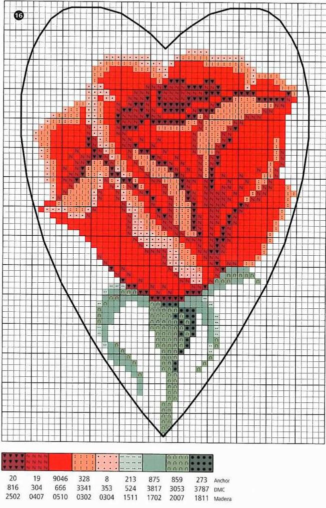 Коллекция схем сердечек для вышивания крестом