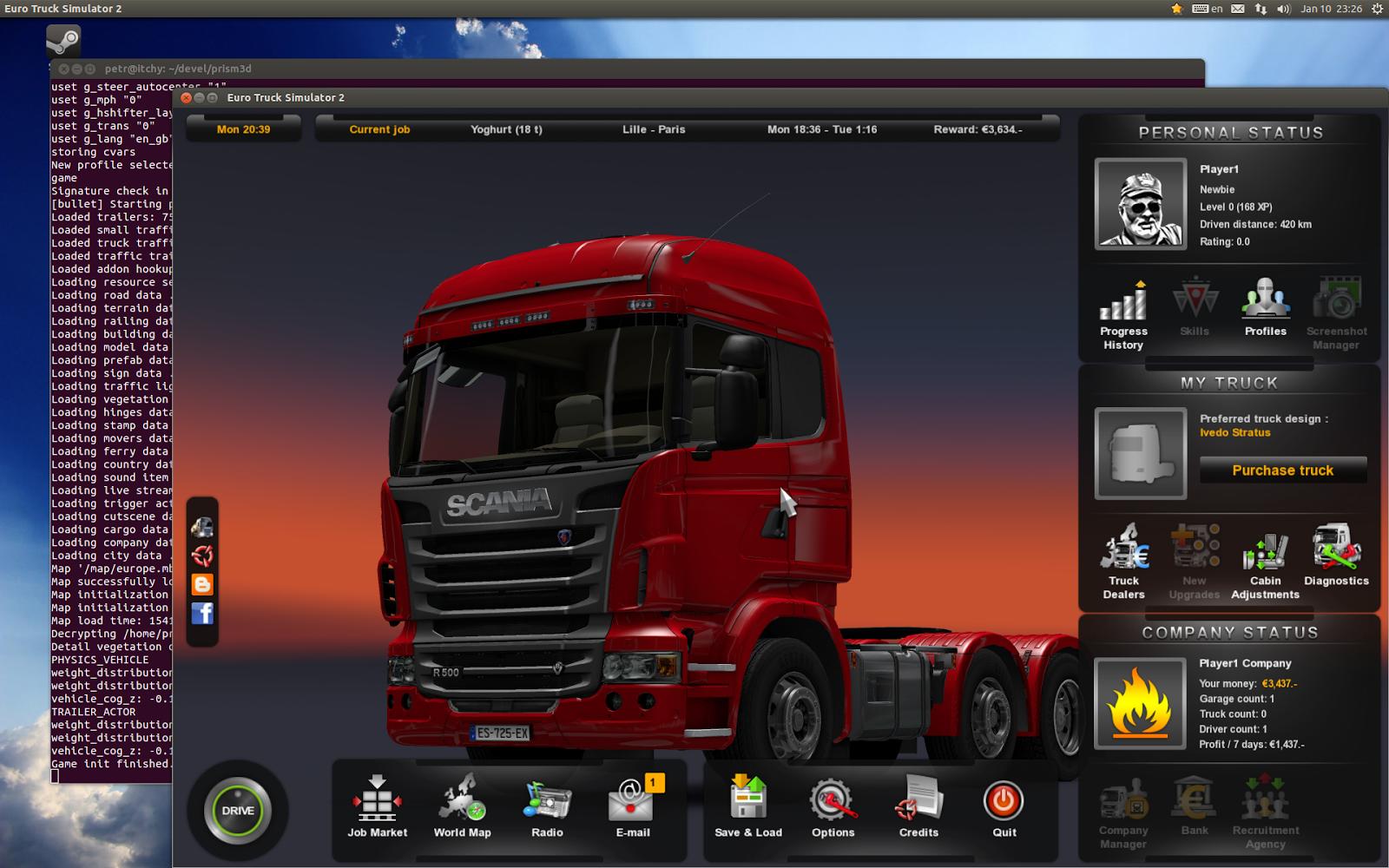 Euro Truck Simulator 2 ��� Linux