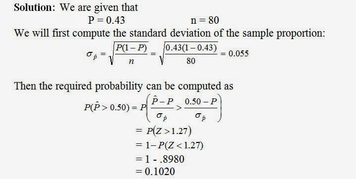 Applied Statistics Sampling Distributions Of Sample Proportions