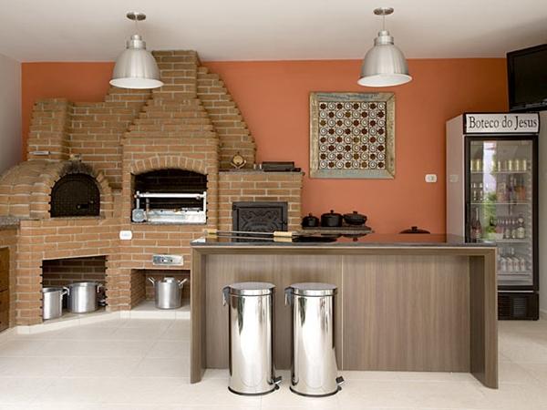 espaço gourmet churrasqueira
