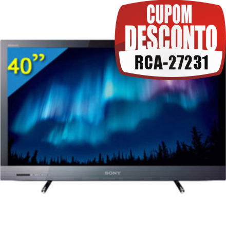 Cupom Efácil - TV 40 LED Full HD Sony KDL-40EX525