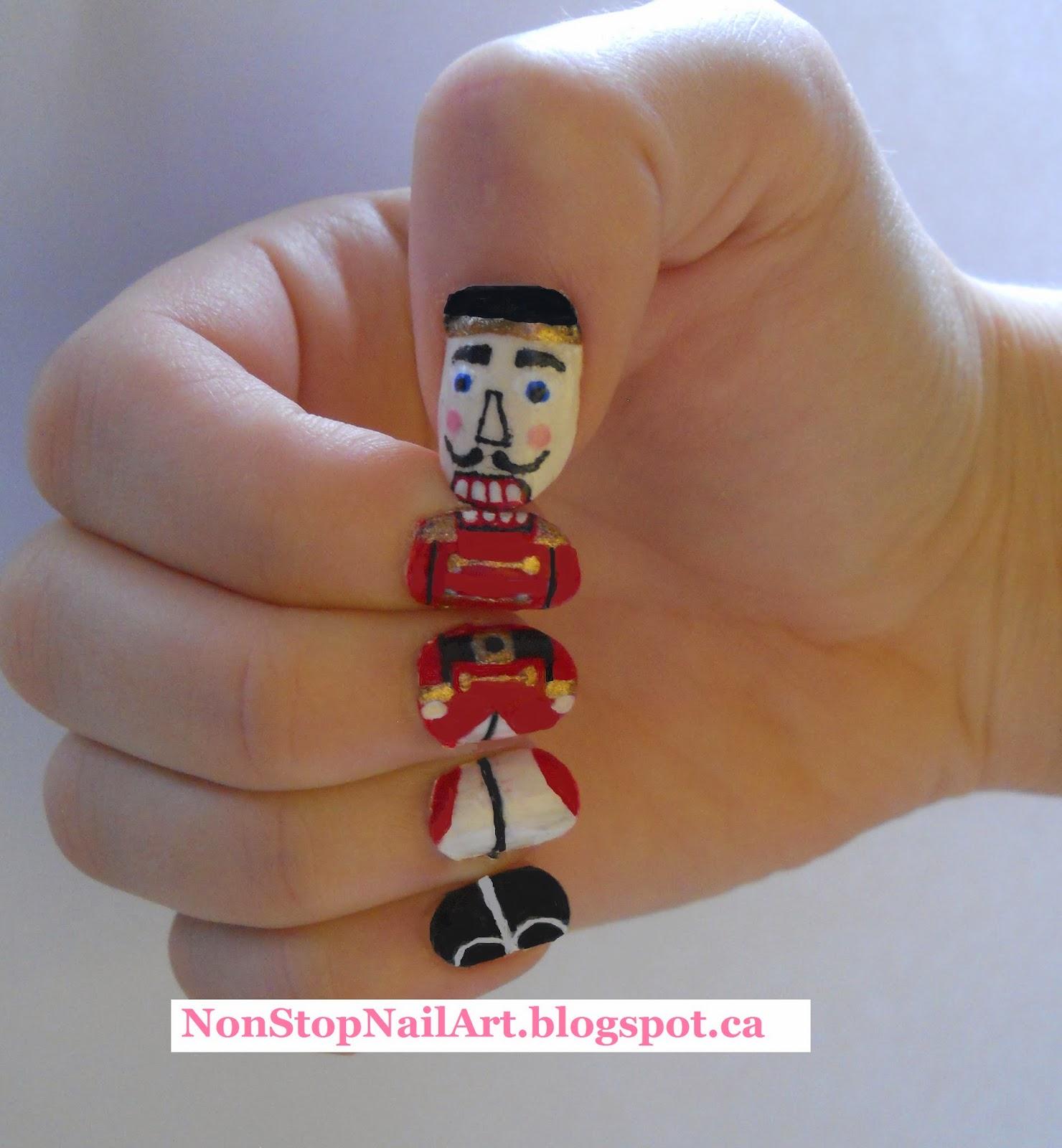 Non Stop Nail Art Christmas And Winter Nails 2014