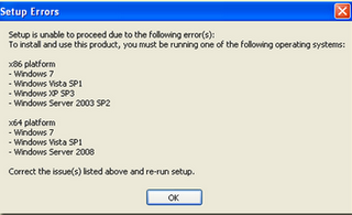 cannot install office 2010 on windows 7