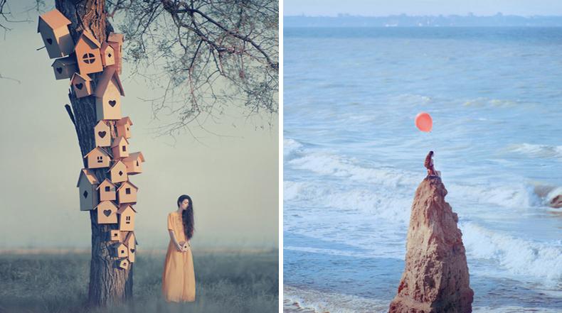 Fotografías surrealista realizadas con una antigua cámara de película