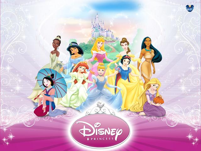 Princesas Disney Com Castelo Ao Fundo