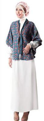 Baju batik muslim wanita untuk kerja