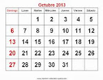 CALENDARIO OCTUBRE 2013