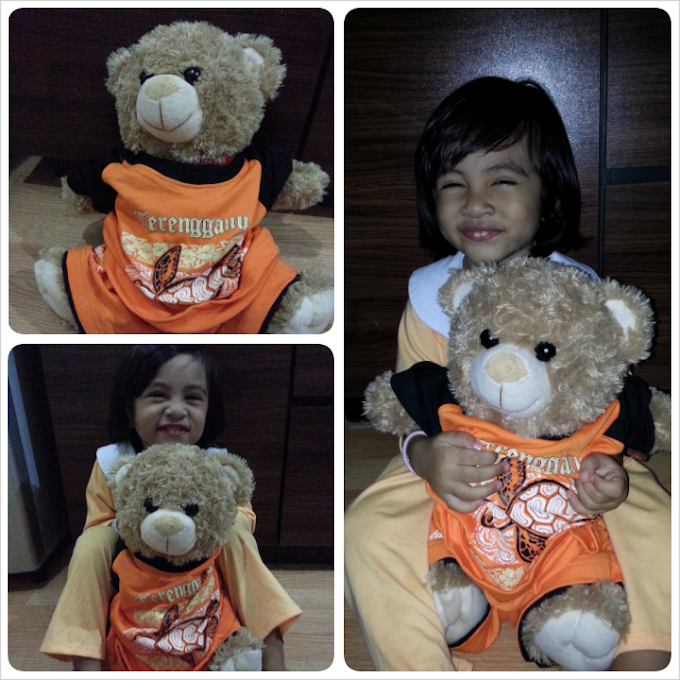 Baju adik jadi baju bear!!