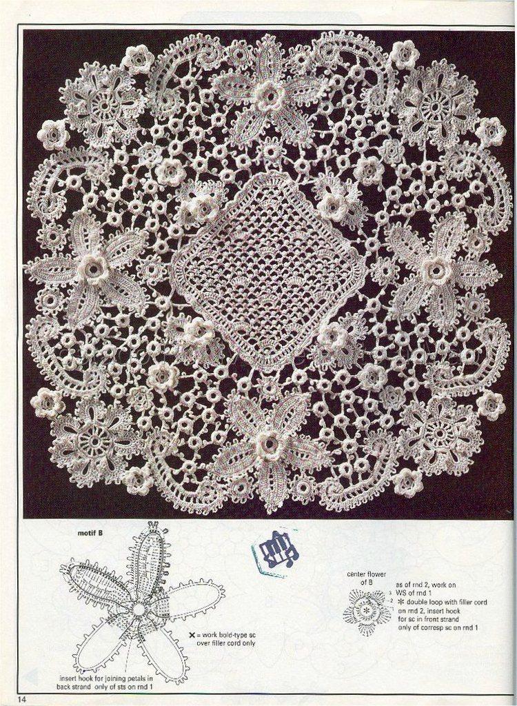 Centro de Mesa Caminho Folhas Crochet Cosas para comprar ...
