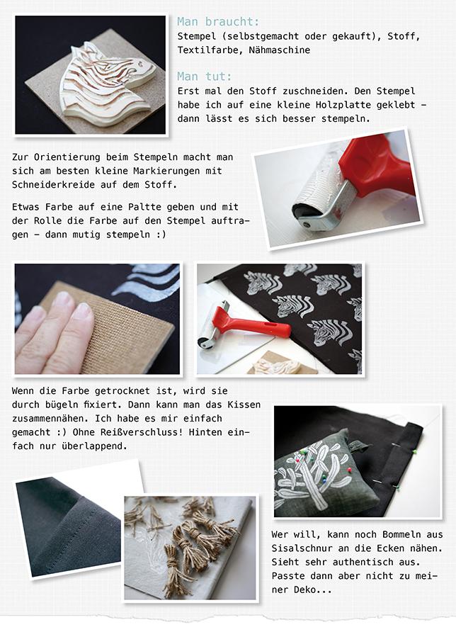 Ynas Design Blog, Zebra Printing on fabric, DIY