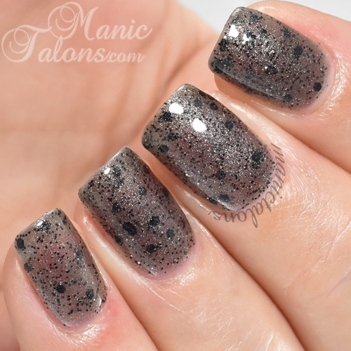 Pink Gellac Mysterious Black Swatch
