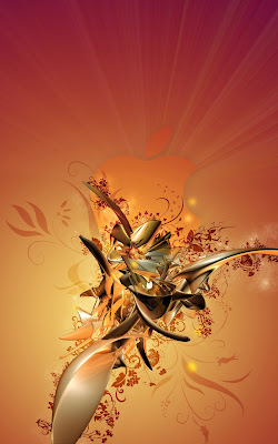 iPhone Wallpaper: Orange Metal