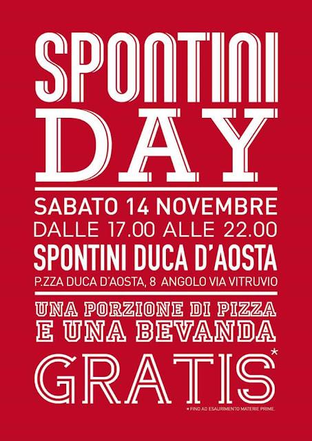 Spontini Day: pizza e bibita gratis il 14 Novembre Milano