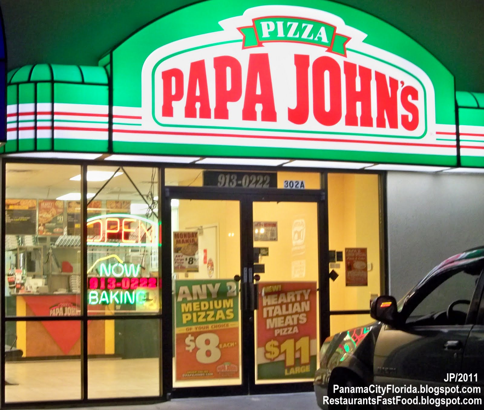 Papa Johns Panama City Beach Phone Number