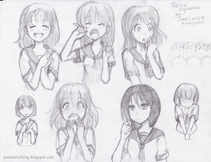 Dibujo de expresiones manga
