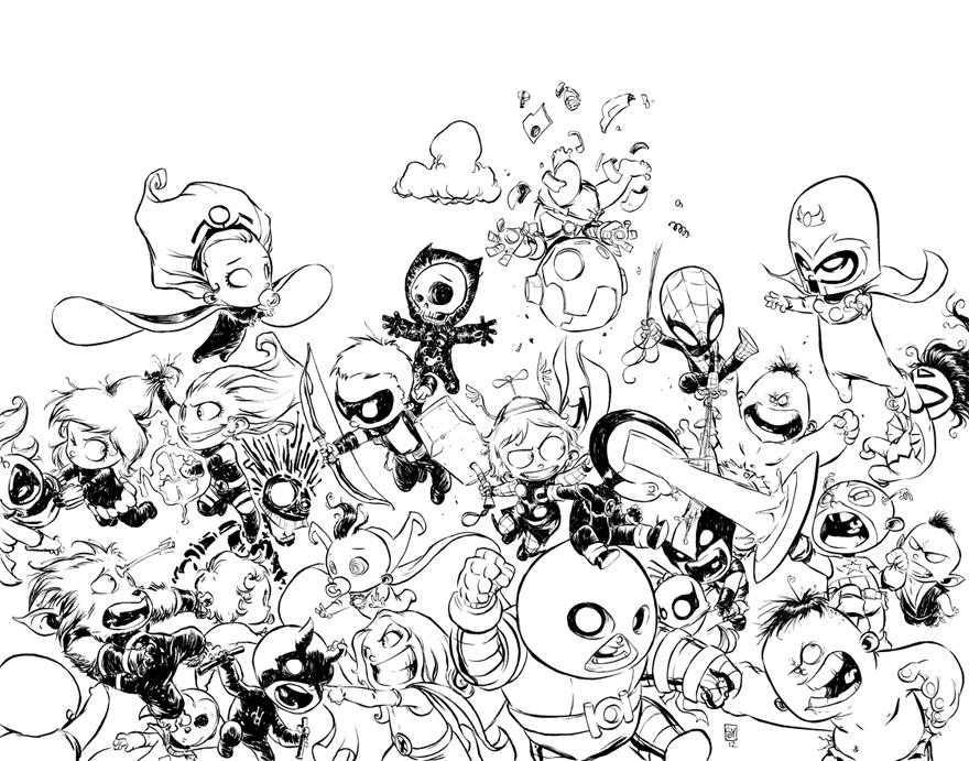 skottieyoung com  avx  1 baby variant original cover art auction