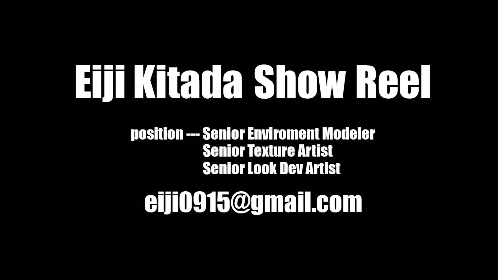 Eiji Kitada Show Reel 2014