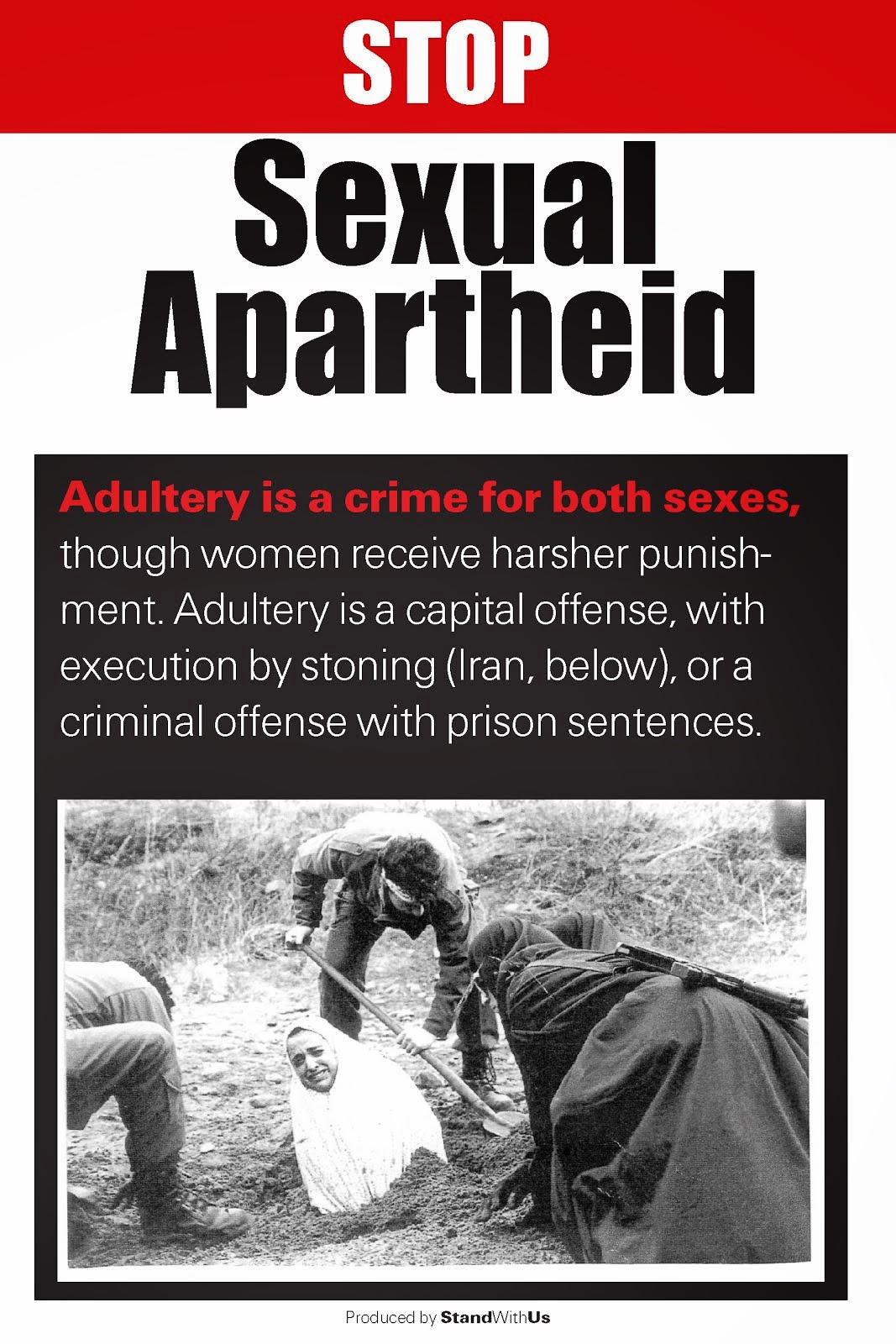 Irã. Adultera. Pena: execução por apedrejamento. No Brasil nós não temos isso. Minha leitora: Ufa!