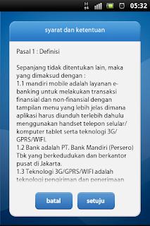 syarat dan ketentuan penggunaan aplikasi mobile banking mandiri