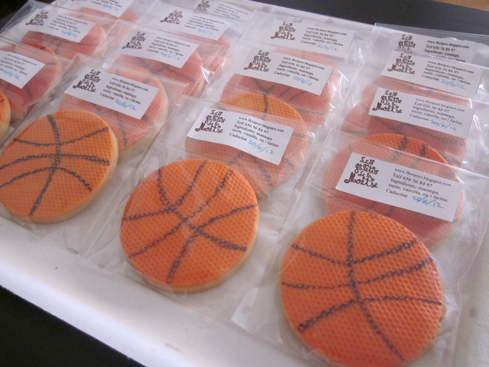 galetes fondant, pilota basket