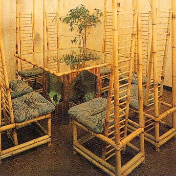 Bamboo Table Chairs Furniture Design.