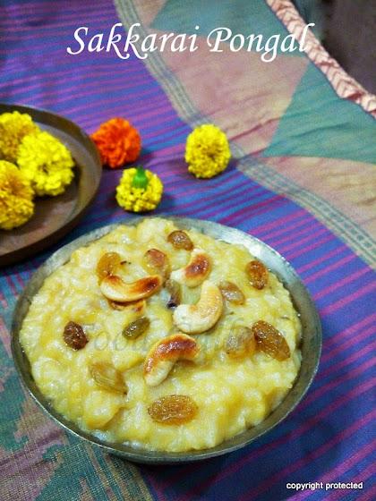 Sweet Pongal, Sakkarai Pongal
