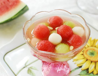 Hwachae korean dessert fruit drink