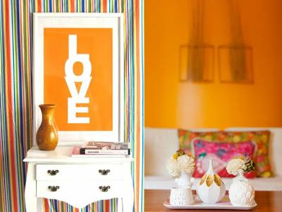 decoración casa naranja