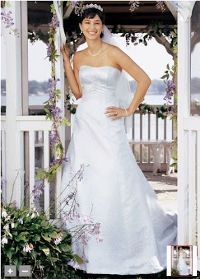 A-line+with+embroidered+tulle+overlay+and+matching+satin+sash+at+empire