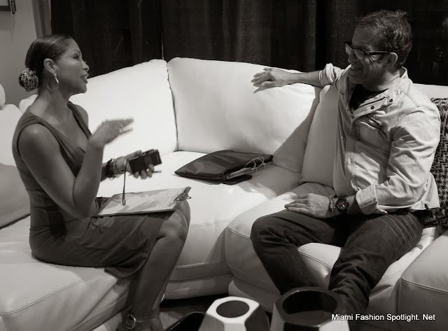 Lissette Rondon en entrevista exclusiva con kenneth Cole en Miami