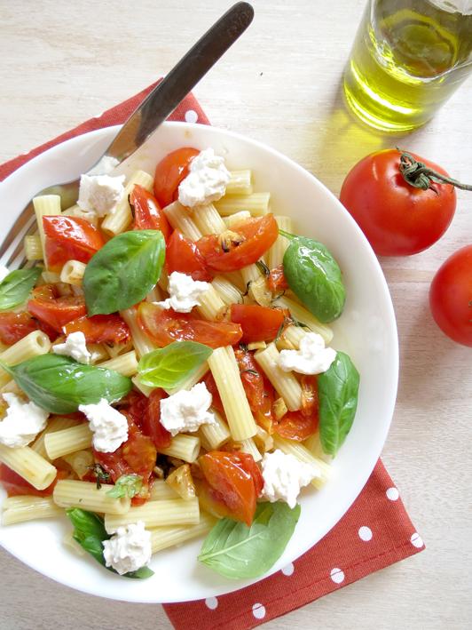 receita de massa com tomate assado