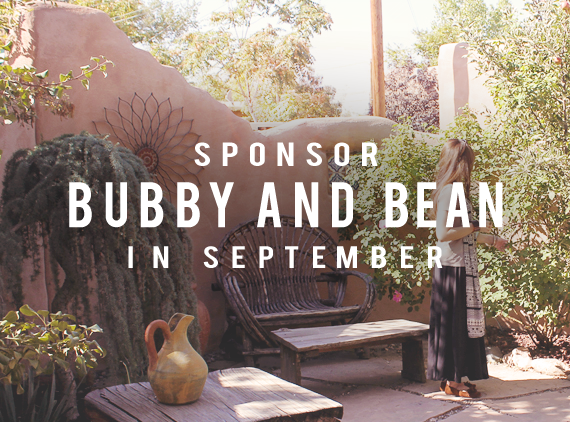Come Be a Part of Bubby & Bean in September!
