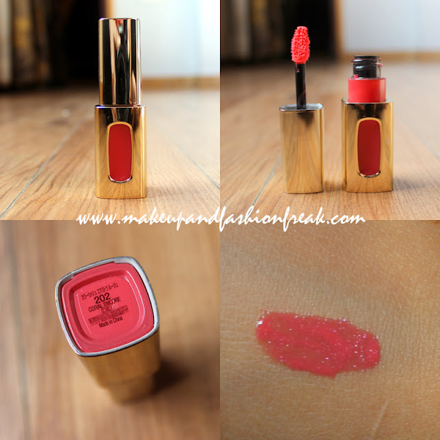 L'Oreal Paris Colour Riche Extraordinaire Liquid Lipstick in Coral Encore